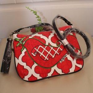 New!  Brighton Red Love Dove Pouch/Bag